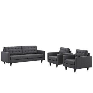 Warren 3 Piece Living Room Set by Langley Street