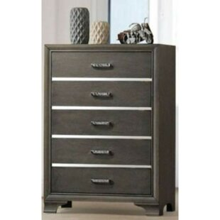 Stickney Wooden 5 Drawer Chest