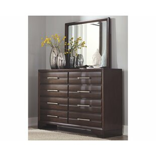 Andriel 8 Drawers Double Dresser with Mirror