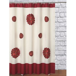 Embroidery Christmas Decorative Single Shower Curtain by Daniels Bath Design