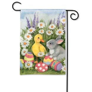 Easter Babies Polyester 1'6 X 1'0.3 Garden Flag by Studio M