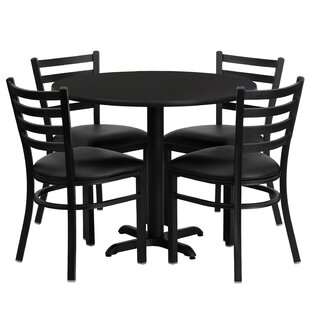 Yunpeng 5 Piece Dining Set Red Barrel Studio
