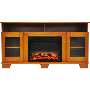 Ackermanville Modern Electric Fireplace TV Stand by Red Barrel Studio