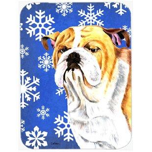 Ashlynn English Bulldog Glass Cutting Board ByThe Holiday Aisle