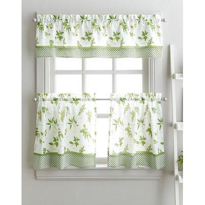 Beautiful Cherelle Herb Graden Kitchen Curtains