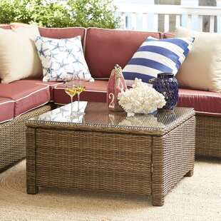 Lawson Wicker Square Coffee Table by Birch Lane™ Heritage Find