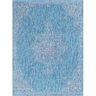 Crader Blue/Gray Indoor/Outdoor Area Rug