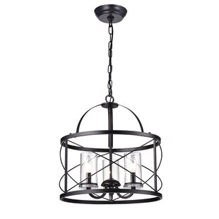 Shop Benji 3-Light Drum Chandelier By Wrought Studio