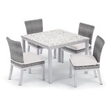 Saleem 5 Piece Dining Set with Cushion
