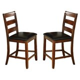 Bridlewood Solid Wood 24 Counter Stool (Set of 2) by Loon Peak®