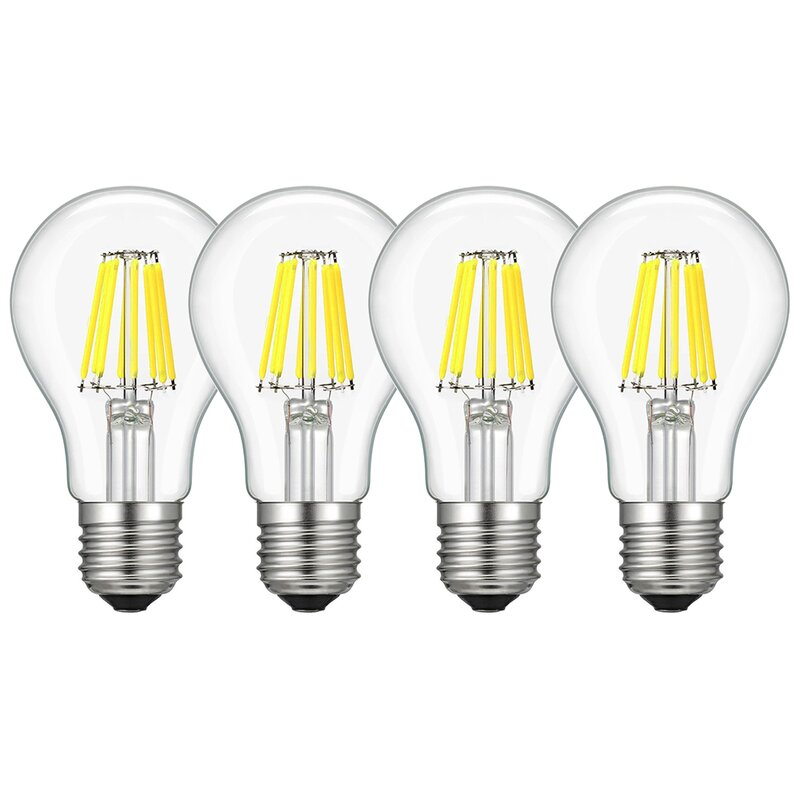 Boshen 8 Watt A60 Led Dimmable Light Bulb Daylight 6500k E26 Medium Standard Base Wayfair
