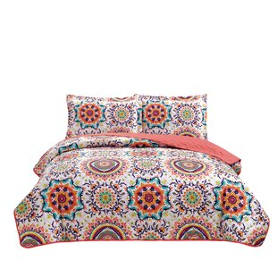 Babette 3 Piece Reversible Quilt Set