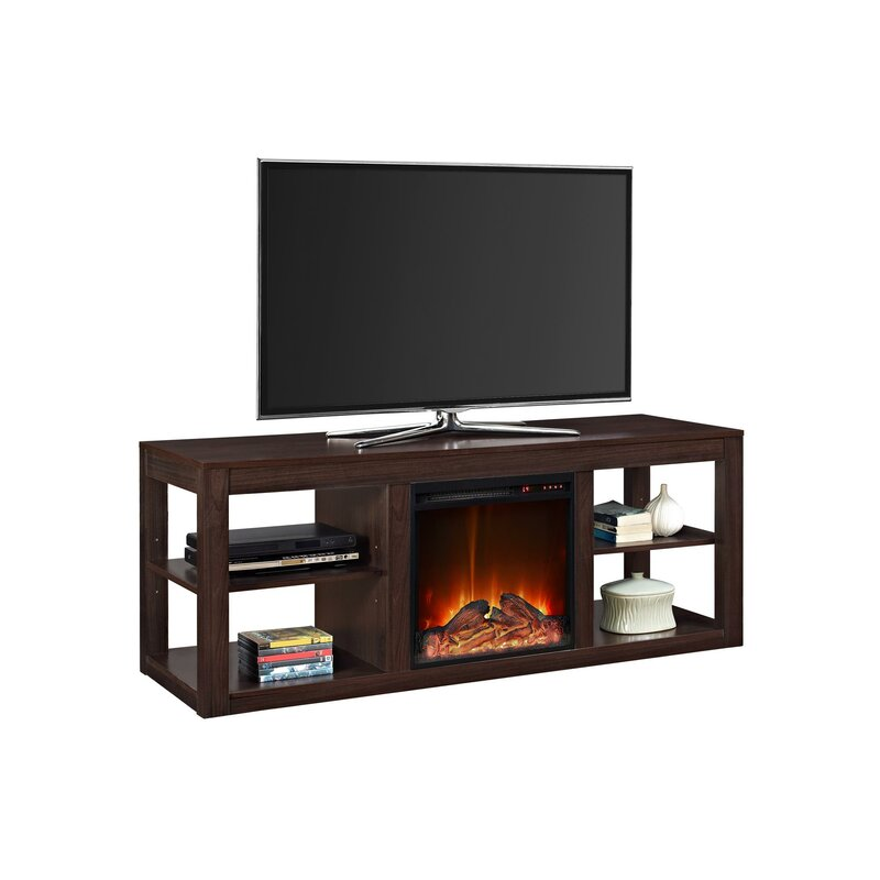 "Rickard TV Stand for TVs up to 65"" with Fireplace"