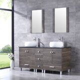 Aldesino 60 Double Bathroom Vanity Set with Mirror by Ebern Designs