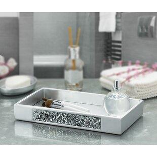 Silver Mosaic Vanity Bathroom Accessory Tray