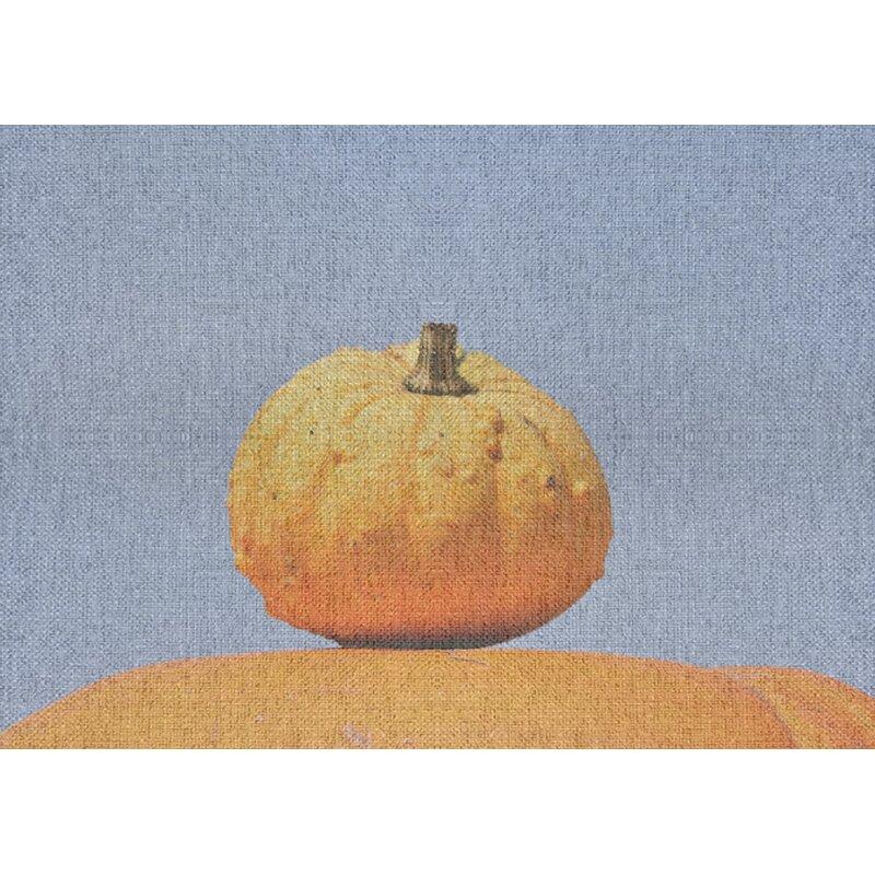 East Urban Home Autumn Gray Orange Area Rug Wayfair