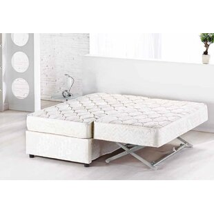 Full Upholstered Low Profile Platform Bed with Mattress