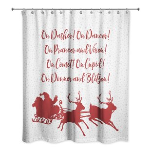 Charla Reindeer Role Call Single Shower Curtain