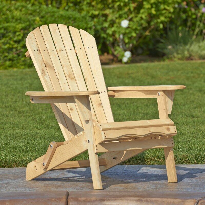 Wincott Wood Folding Adirondack Chair
