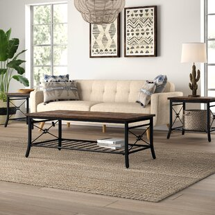 Jackeline 3 Piece Coffee Table Set