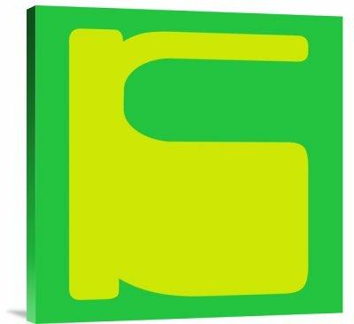 Naxart Letter K Yellow Graphic Art Print On Canvas Wayfair