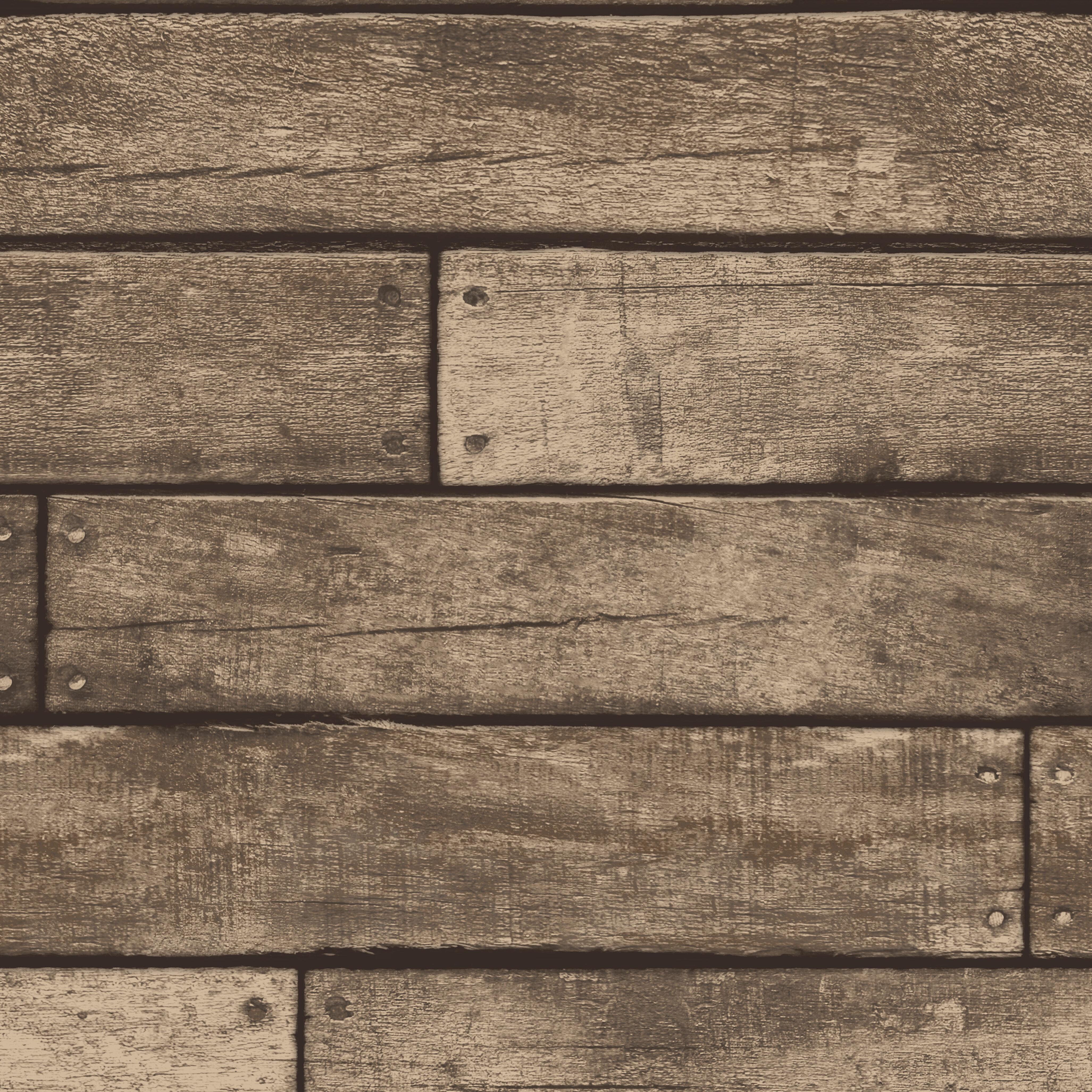 Distinctive Wooden Plank Sidewall 10m X 52cm Wallpaper Roll