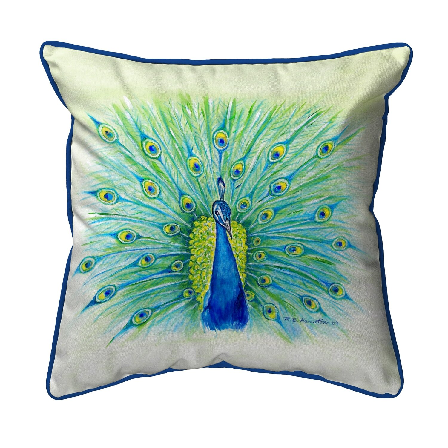 World Menagerie Lamson Peacock Indoor Outdoor Throw Pillow Reviews Wayfair