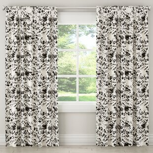 Austin Cow Animal Print Rod Pocket/Tab Top Single Curtain Panel by Brayden Studio