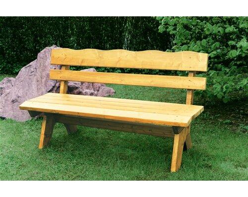 Gartenbank Primula aus Massivholz | Garten > Gartenmöbel > Gartenbänke | Natürlich/braun | Kiefer - Holz - Massivholz - Rattan | Garten Living