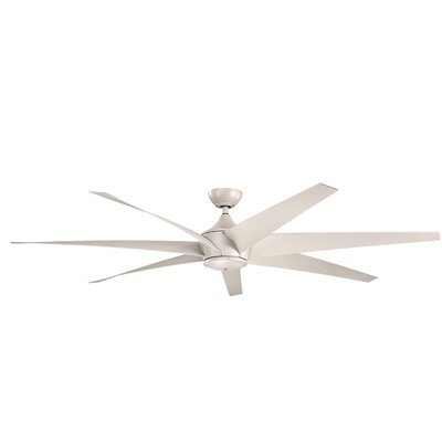 Brayden Studio 80 Bowling 7 Blade Outdoor Ceiling Fan Finish: Antique Satin Silver