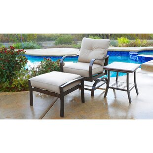 St Annes Patio Chair with Cushions and Ottoman