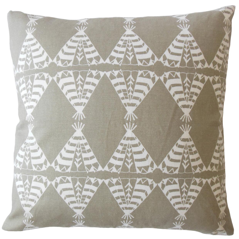 Bloomsbury Market Vail Geometric Down Filled 100 Cotton Lumbar Pillow Wayfair