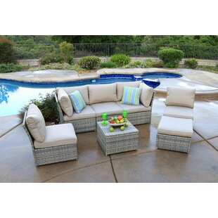 Burrill 7 Piece Sectional Seating Group with Cushions