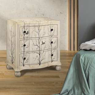 Anais 3 Drawer Nightstand by Rosalind Wheeler