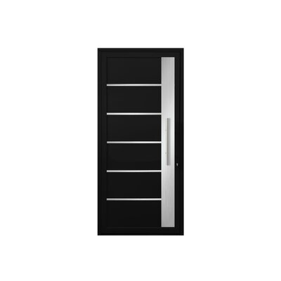 Cassiopeia Standard Jamb Finished Prehung Front Entry Door Cbwwindowsanddoors Finish Black Door Handing Left Hand Inswing Door Size 82 H X 36 W
