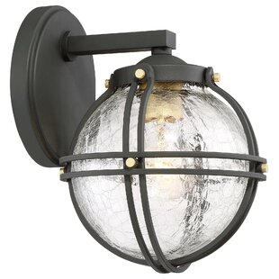 Compare prices T.S. 1-Light Outdoor Wall Lantern By Gracie Oaks