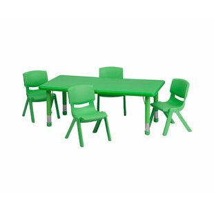 Price comparison Estella Kids 5 Piece Writing Table and Chair Set ByHarriet Bee