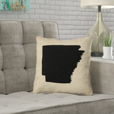 Ivy Bronxaustrinus Arkansas Canvas In Faux Linen Double Sided Print Throw Pillow Ivy Bronx Color Black Size 18 X 18 Dailymail
