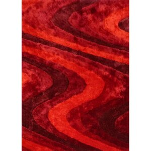 Living Shag Shades of Red Rug