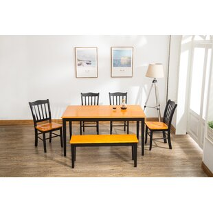 Weldy 6 Piece Dining Set Red Barrel Studio