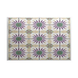 Abbie Green/Purple Indoor/Outdoor Area Rug By Ebern Designs