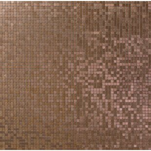 Micro 0 38 X Metal Mosaic Tile In Alloy Brushed Copper