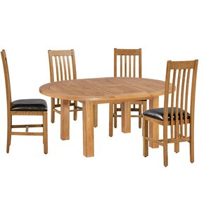 Covarrubias 5 Piece Extendable Solid Wood Dining Set