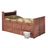 Christiano Twin Mate's Bed with Drawers and Bookcase by Harriet Bee