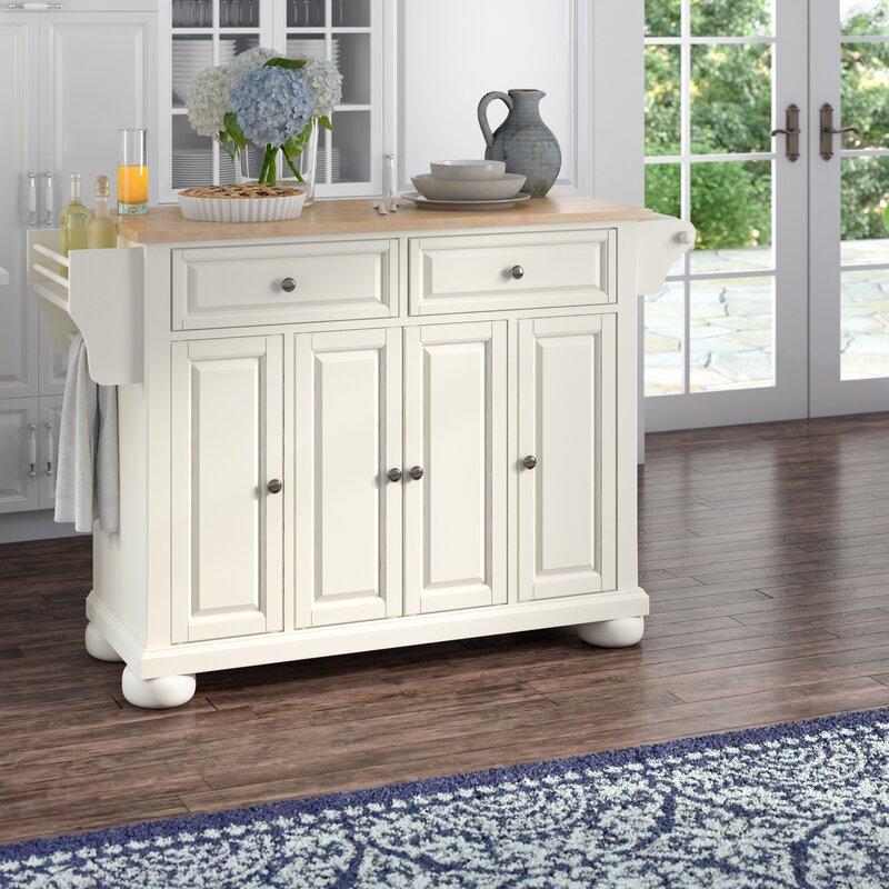 Kitchen Island Table Top: Darby Home Co Pottstown Kitchen Island With Wood Top