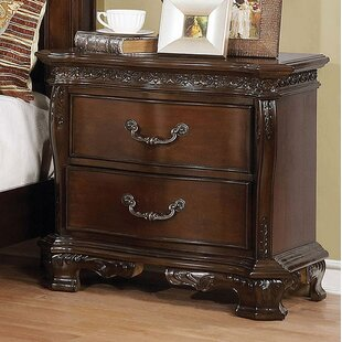 Graff 2 Drawer Nightstand by Astoria Grand
