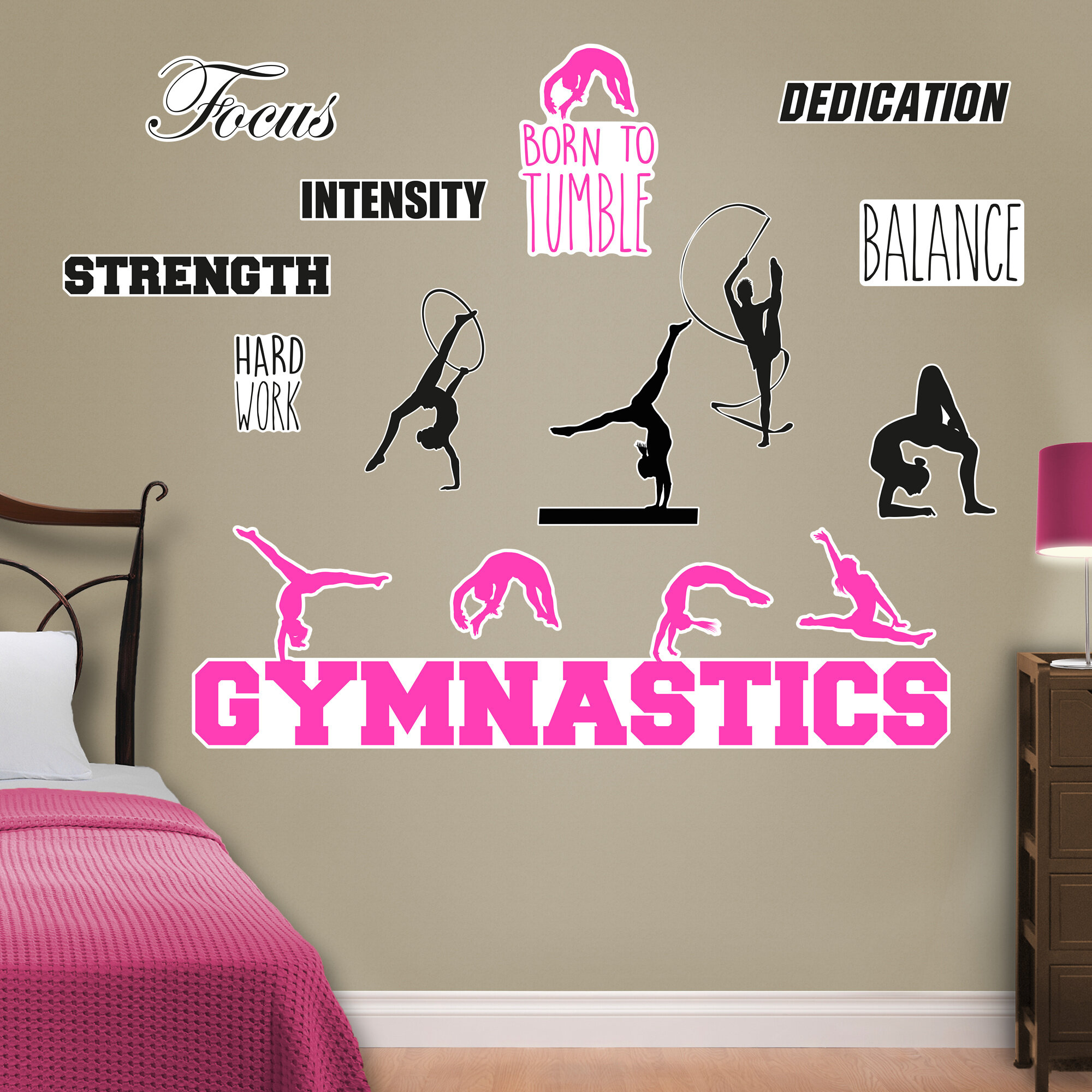 Fathead Gymnastics Peel And Stick Wall Decal U0026 Reviews | Wayfair