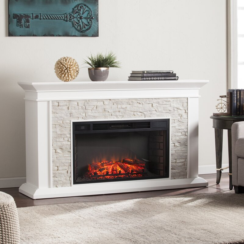 Darby Home Co Simulated Electric Fireplace & Reviews   Wayfair