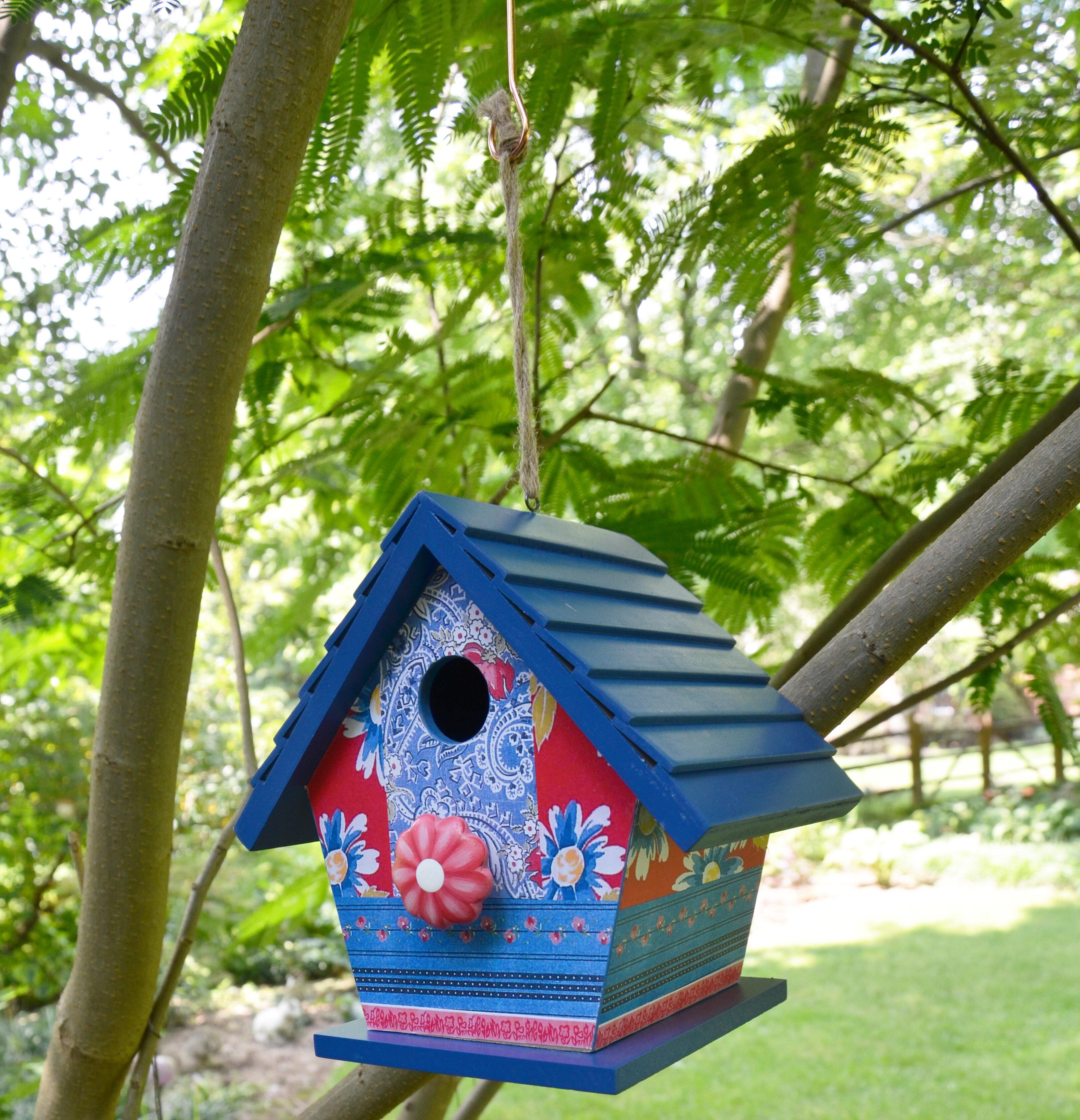 Rcs Gifts Patchwork 8 In X 8 In X 6 In Birdhouse Wayfair