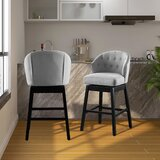 Holyoke Swivel 29 Bar Stool (Set of 2) by Andover Mills